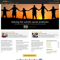 Koios - The online platform for solving complex social challenges