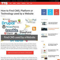How to Find CMS, Platform or Technology used by a Website