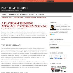 A Platform Thinking Approach To Problem Solving
