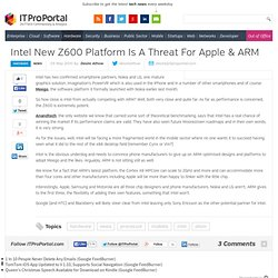 Intel New Z600 Platform Is A Threat For Apple & ARM - ITProPorta