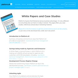 White papers and Case Studies