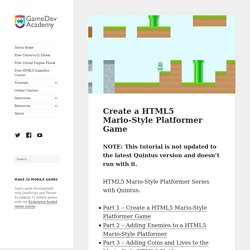 Create a HTML5 Mario-Style Platformer Game