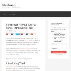 Platformer HTML5 Tutorial Part 1: Introducing Tiled