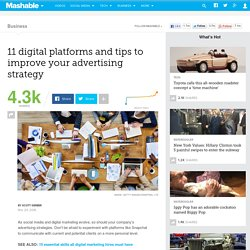 11 digital platforms and tips to improve your advertising strategy