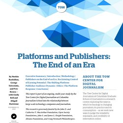 Platforms and Publishers: The End of an Era