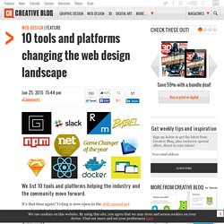 10 tools and platforms changing the web design landscape