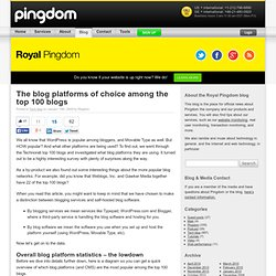 Royal Pingdom's The blog platforms of choice among the top 100 blogs
