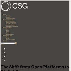 The Shift from Open Platforms to Digital Commons - Commons Strategies