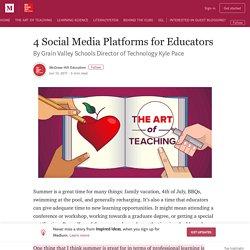4 Social Media Platforms for Educators – Inspired Ideas
