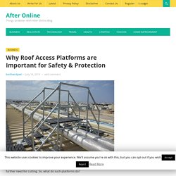 Why Roof Access Platforms are Important for Safety & Protection