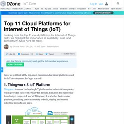 Top 11 Cloud Platforms for Internet of Things (IoT)