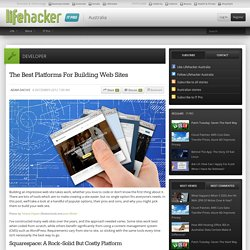The Best Platforms For Building Web Sites