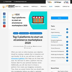 Top 5 platforms to start an eCommerce marketplace 2020 with pros & cons