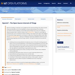 Open Platforms – OpenIoT – The Open Source Internet of Things