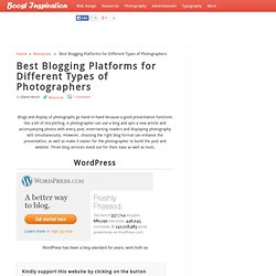 Best Blogging Platforms for Different Types of Photographers
