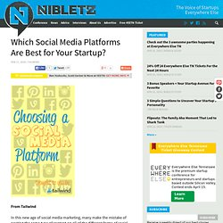 Which Social Media Platforms Are Best for Your Startup? | Nibletz