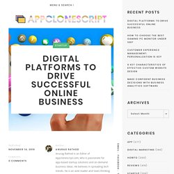 Digital Platforms to Drive Successful Online Business