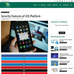 Security Features of iOS Platform - Experts Guide on IoT platforms, Cloud computing,Mobile Technologies