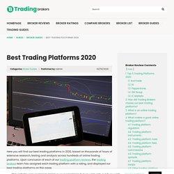 Best Trading Platforms 2019 - TradingBrokers.com