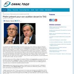 Platini présent pour son audition devant le TAS