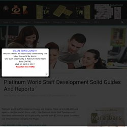 Platinum World Staff Development Solid Guides And Reports