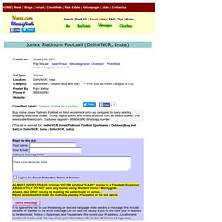 Jonex PlatinumFootball Delhi/NCR Sportswear