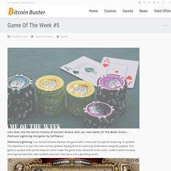 Play Platinum Lightning Casino for Bitcoin