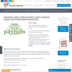 Trading Non-Farm Payroll with Finesse using Platinum Methodology