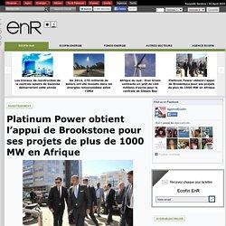 Platinum Power obtient l'appui de Brookstone pour ses projets de plus de 1000 MW en Afrique