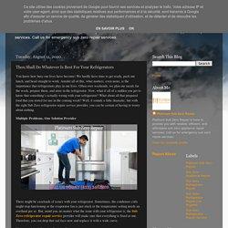 Get Certified Technicians for Refrigerator Repair Service