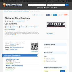 Platinum Plus Services - Glendale, CA 91204 - (818)272-8866