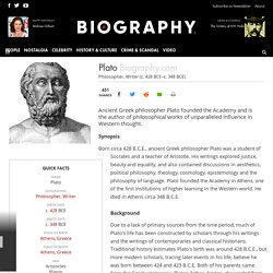 Plato - Philosopher, Writer