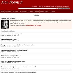 Citations de Platon -