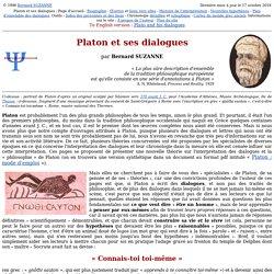 Platon et ses dialogues : page d'accueil