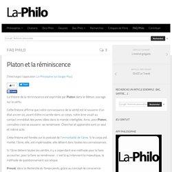 Platon et la réminiscence
