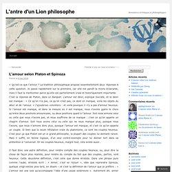 L'amour selon Platon et Spinoza
