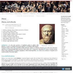 Gabriella Giudici: la filosofia di Platone