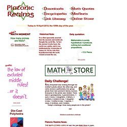 Platonic Realms Home Page