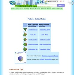 Platonic Solids Construction Tips