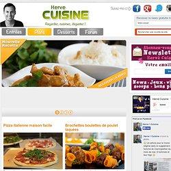 Recettes en vidéo de plats, viandes, poisson, végétarien, pâtes maison par Hervé Cuisine