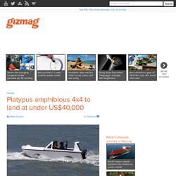Platypus amphibious 4x4 to land at under US$40,000