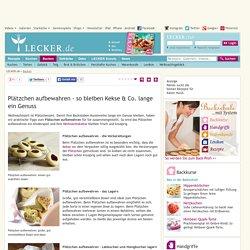 Plätzchen aufbewahren - so bleiben Kekse & Co. lange ein Genuss
