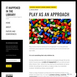 Play as an approach – It Happened in the Library