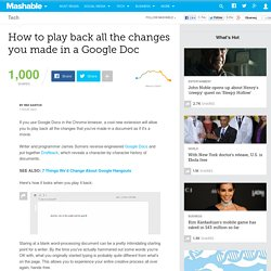 How to play back all the changes you made in a Google Doc