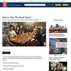 How to Play 'The Book Game'