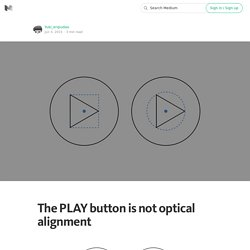 The PLAY button is not optical alignment