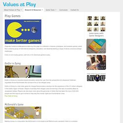 Play Games : Values At Play