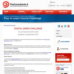 Play to Learn Course Challenge