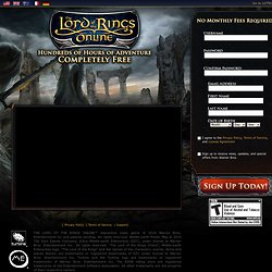 Codemasters : The Lord of the Rings Online™: Shadows of Angmar™ : Home