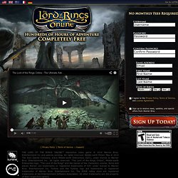 "Sign up to play ""The Lord of the Rings Online""™ for Free!"